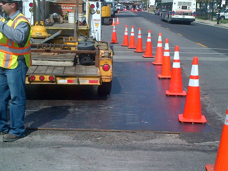 steel road plate hire